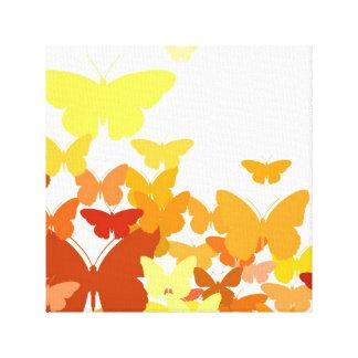 Menge der Schmetterlinge Leinwanddruck