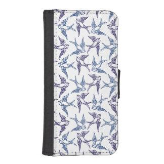 Menge der skizzierten Vögel Geldbeutel Hülle Für Das iPhone SE/5/5s