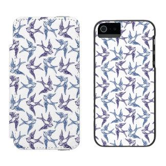 Menge der skizzierten Vögel Incipio Watson™ iPhone 5 Geldbörsen Hülle