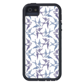 Menge der skizzierten Vögel iPhone 5 Schutzhüllen