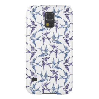 Menge der skizzierten Vögel Samsung Galaxy S5 Hülle