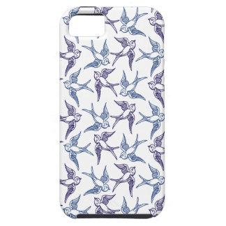 Menge der skizzierten Vögel Tough iPhone 5 Hülle