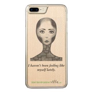 Menopausen-Spaß, Telefonkasten, iPhone, Samsung, Carved iPhone 8 Plus/7 Plus Hülle