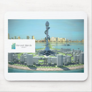 Menorah Insel-Projekt-Mausunterlage Mousepad