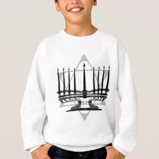 Menorah und Stern Sweatshirt