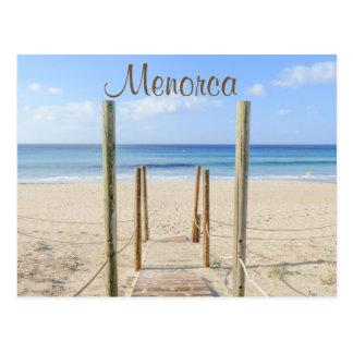Menorca Promenade zur Strand-Postkarte Postkarte