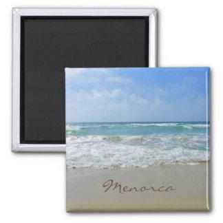 Menorca Strand und Seeandenken Quadratischer Magnet