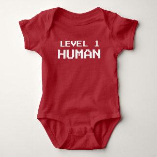 Mensch des Gamer-Niveau-eins - Spiel-Shirt Baby Strampler