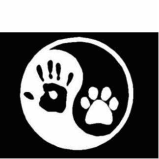 Mensch/Hund Ying Yang Ausschnitte