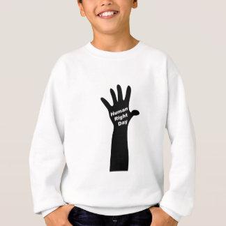 Menschlich-Recht-Tägig (weiß) Sweatshirt