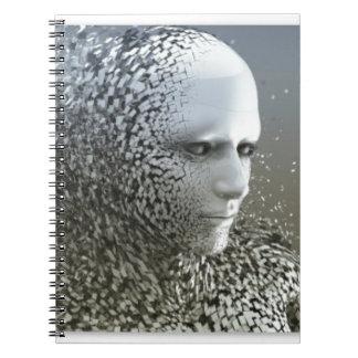 Menschliche abstrakte Kunst Spiral Notizblock