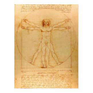 Menschliche Anatomie, Vitruvian Mann durch Postkarte