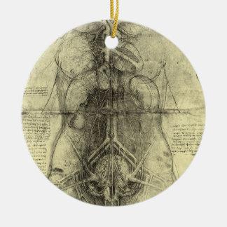 Menschliche Anatomie, weiblicher Torso durch Keramik Ornament