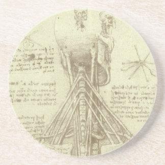Menschliche Anatomie-Wirbelsäule durch Leonardo da Getränkeuntersetzer