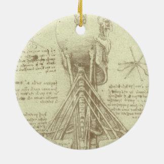 Menschliche Anatomie-Wirbelsäule durch Leonardo da Keramik Ornament