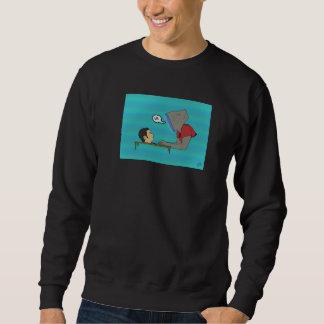 Menschliche Anzeige Crewneck Sweatshirt