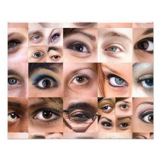 Menschliche Augen-Montage Photodrucke