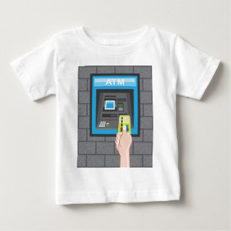 Menschliche Hand ATMs mit einer Karte Baby T-shirt