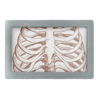 menschliche Knochen Rechteckige Gürtelschnallen