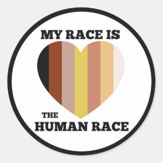"""Menschliche Rasse-Aufkleber - 3"""" Runder Aufkleber"""