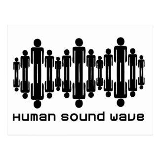 menschliche Schallwelle Postkarte