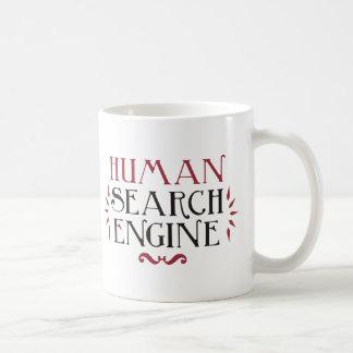 Menschliche Suchmaschine Kaffeetasse