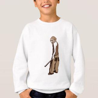menschlicher Affe mit Stock Sweatshirt