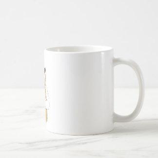 menschlicher Bär mit der Zunge Kaffeetasse