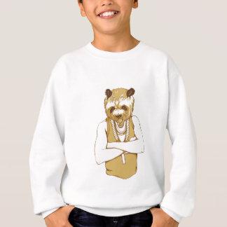 menschlicher Bär mit der Zunge Sweatshirt