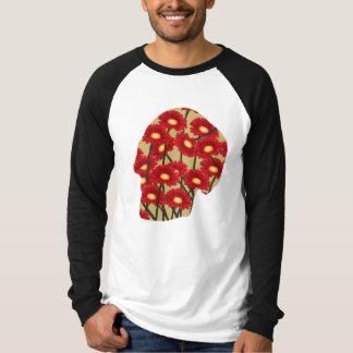 Menschlicher Kopf gemusterte T - Shirts