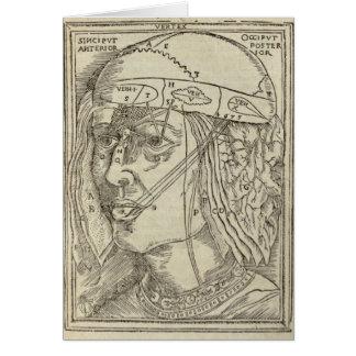 Menschlicher Kopf Karte