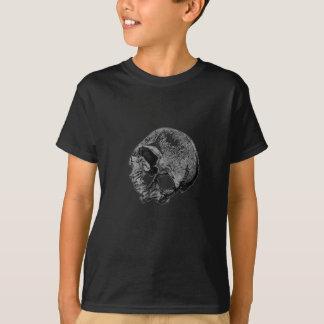Menschlicher Schädel-Vintage Illustration T-Shirt