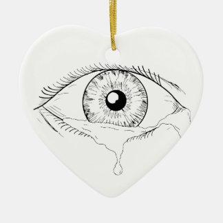 Menschliches Augen-schreiendes Riss-flüssiges Keramik Ornament