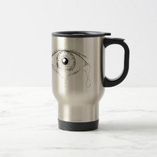 Menschliches Augen-schreiendes Riss-flüssiges Reisebecher