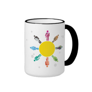 Menschliches Diversity Ringer Tasse
