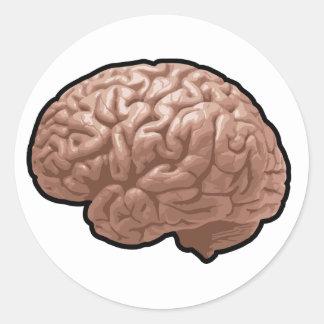 Menschliches Gehirn-Aufkleber Runder Aufkleber