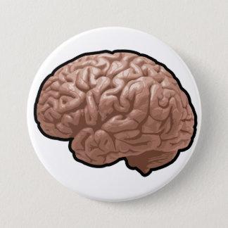Menschliches Gehirn-Knopf Runder Button 7,6 Cm