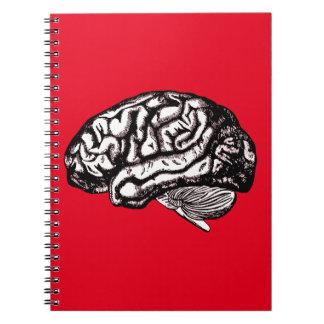 menschliches Gehirn Notizblock