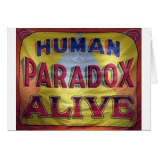 Menschliches Paradox lebendig Karte