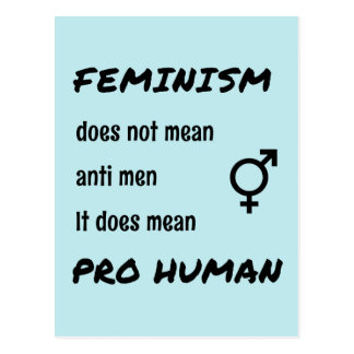 Menschliches Prozitat des Feminismus Postkarte