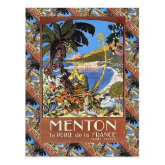 Menton, La Frankreich Le Perle de Postkarte