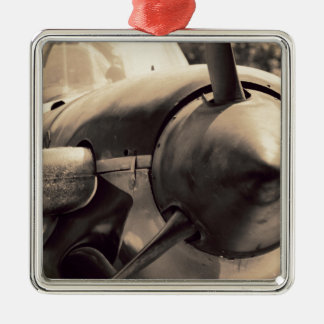 Mentortrainer des US-Marine-Weltkrieg-T-34 Silbernes Ornament