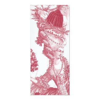 Menü-Karte Joyeux Weihnachten-(Rouge) 10,2 X 23,5 Cm Einladungskarte