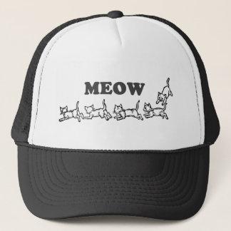Meow-Fernlastfahrer-Hut Truckerkappe