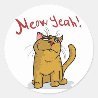 Meow-ja - runde Aufkleber
