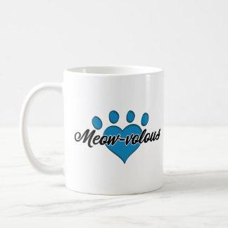 Meow--velousweiß-Miezekatze Kaffeetasse