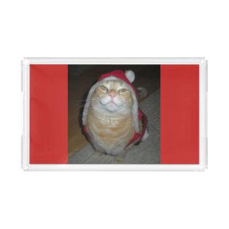 Meow-y wenig Weihnachten Acryl Tablett