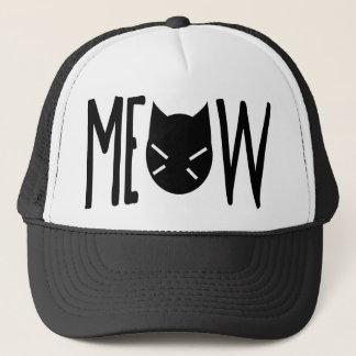 Meow - Zitat mit dem Kopf einer Katze Truckerkappe