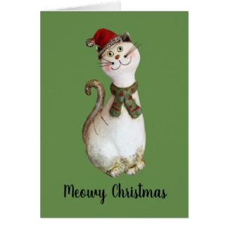Meowy Weihnachten Karte