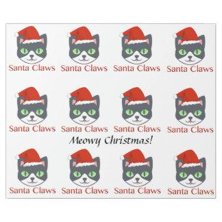 Meowy Weihnachten Sankt kratzt Packpapier